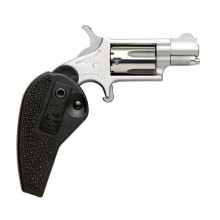 "NORTH AMERICAN ARMS REVOLVER, 22 LR, 11/8"" BBL. W/ HOLSTER GRIP."