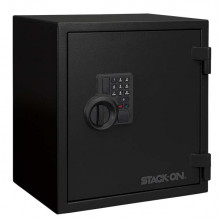 STACK ON PERSONAL FIRE SAFE, FIREPROOF 1400 DEGREES FOR 30 MIN, ELECTRONIC LOCK, WELDED STEEL CONSTRUCTION, 2 SHELVES