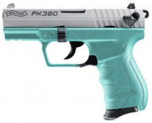"WALTHER PK380, .380 ACP., 3.6"" BBL. ANGEL BLUE"