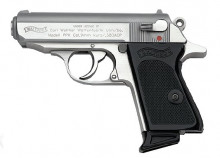 "WALTHER PPK/S, .380 CAL., 3.35"" BBL., STAINLESS"