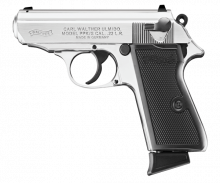 "WALTHER PPK/S, .22 LR, 3.3"" BBL, NICKEL"