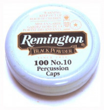 REMINGTON #10 PERCUSSION CAPS, 100 COUNT