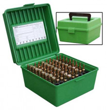 MTM DELUXE FLIPTOP 100 RD AMMO BOX CALIBERS(22250 458MAG)