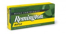 REMINGTON RIFLE AMMO, 250 SAVAGE, 100 GR., POINTED SOFT POINT, 20 ROUNDS