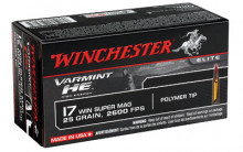 WINCHESTER AMMO, .17 WSM, 25 GR, POLYMER TIP, 50 ROUNDS