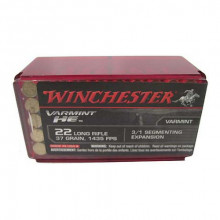 WINCHESTER AMMO, 22 LR, 37 GR., FRAGMENTED HP, 50 ROUNDS