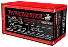 WINCHESTER AMMO., 22 MAG., 40 GR., JHP, PDX, 50 ROUNDS