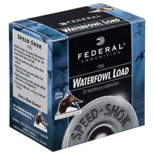 "FEDERAL SPEED-SHOK STEEL, 12 GA., 3-1/2"", 1-1/2 OZ, #2, 25 ROUNDS"
