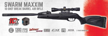 GAMO SWARM MAXXIM AIR RIFLE, .177 CAL., 10 SHOT, 4X32 SCOPE