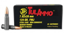 TULAMMO 7.62x39MM, 124 GR. FMJ, 40 ROUNDS