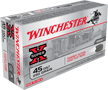 WINCHESTER AMMO., 45 COLT, 250 GR. LEAD COWBOY ACTION, 50 ROUNDS