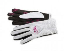 BROWNING WMNS TRAPPER GLOVE MD WHITE/PINK