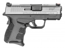 "SPRINGFIELD XDS MOD 2, 9mm, 3.3"" BBL, STAINLESS/POLYMER W/ 2 MAGS (1-7RD, 1-9RD) FIBER OPTIC FRONT SIGHT"