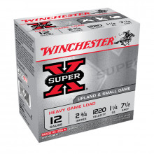 "WINCHESTER GAME LOADS, UPLAND & SMALL GAME, 12 GA,  2-3/4"", 3-1/4 DR, 1-1/4 OZ, #7 1/2"